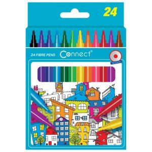 Flomaster školski 24boje karton Connect blister