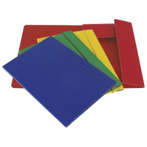 Fascikl kartonski/lak s gumicom A5 600gr sort boja