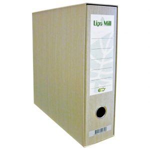 Registrator A4 široki u kutiji eko reciklirani Lipa Mill natur