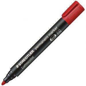 Marker permanentni 2mm Lumocolor Staedtler 352-2 crveni