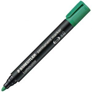 Marker permanentni 2mm Lumocolor Staedtler 352-5 zeleni