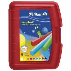 Plastelin 9boja 300g pvc Creaplast Pelikan 622670