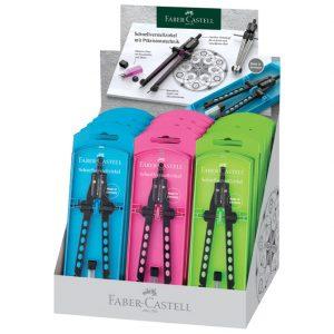 Šestar s preciznim podešavanjem Factory Neon Faber Castell