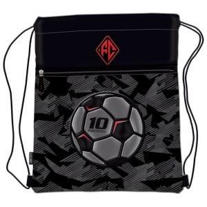 Vrećica za tjelesni Football Team Connect crno-sivo-crvena