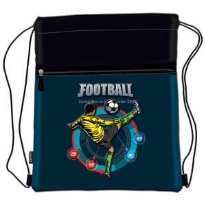 Vrećica za tjelesni Football Player Connect crno-plava petrole