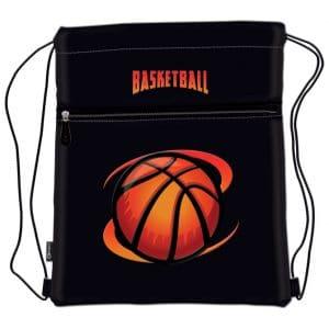 Vrećica za tjelesni Basketball Team Connect crno-narančasta