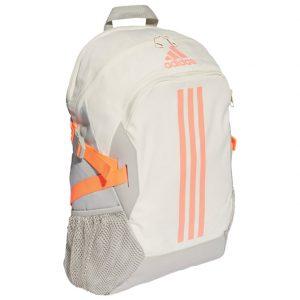 Ruksak školski-notebook Power 5 Adidas FK6906 bijelo-naranč