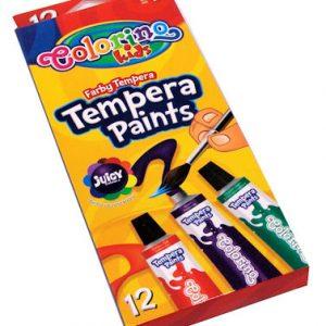 Patio Colorino tempera boja u tubama za sve vrste umjetničkih djela. Kapacitet:12 ml Broj komada u pakiranju:12