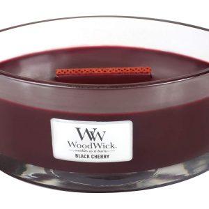 Svijeća WoodWick Black cherry elipse