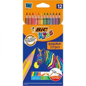 BOJICE BIC KIDS EVOLUTION STRIPES 12 BOJA PK12 950522