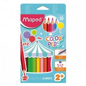 Bojice drvene Maped Color'Peps Maxi trokutaste 12/1 MAP834010