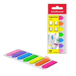 Zastavice Post-it 12x44mm 20L ErichKrause® x7 neon boja strelice 140L