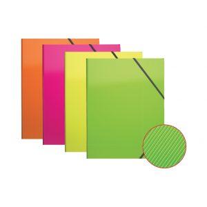 Fascikl klapa s gumicom pp A4 ErichKrause® Glance Neon sort