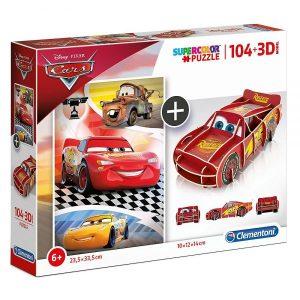 Slagalica Clementoni (Puzzle) Cars i 3D model