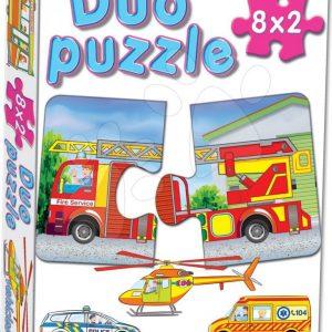 Baby puzzle Duo Prijevozna sredstva 8x2 dijelova s 8 slika