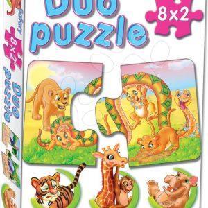 Baby puzzle Duo Safari Dohány 8x2 dijelova s 8 slika