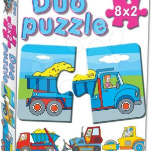 Baby puzzle Duo Radna vozila Dohány 8x2 dijelova s 8 slika