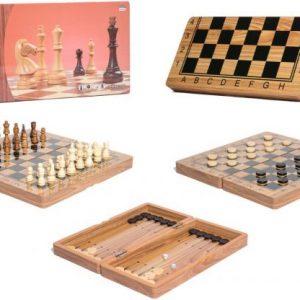 Drveni šah 3u1