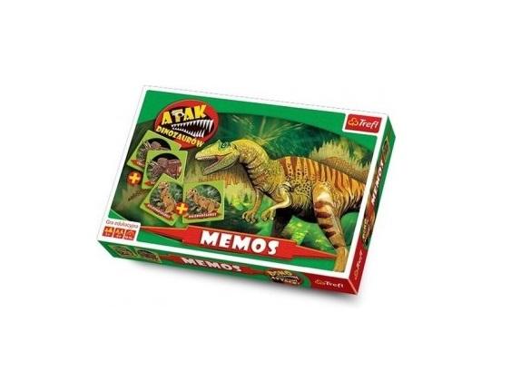 Društvena igra memori Dino Attack Trefl