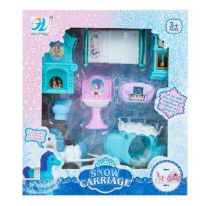 Set za igru namještaj za lutke i snježna kočija MEGA CREATIVE