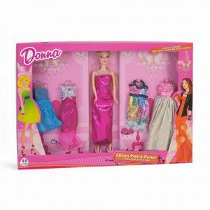 Modna lutka Donna + gratis fashion odjeća Globo